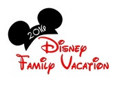 Disney Family Vacation Custom Personalized  Iron on t-shirt Transfer Decal(iron on transfer, not digital download) Matching Family shirts