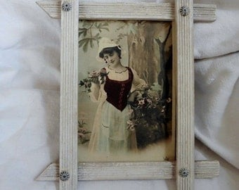 French Vintage, Gustavian , Frame, Romantic Picture, Shabby French Home, Faded French,