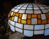 RESERVED for stan sousa c1905 Gorham Art Nouveau Leaded Glass Lamp Deco