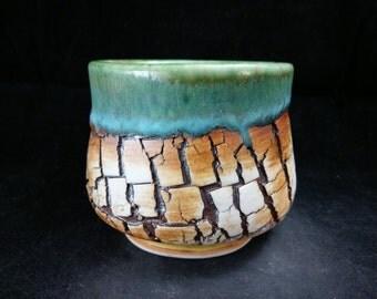 ChingWenArts Studio Pottery Stoneware Japanese Tea Bowl, chawan, sake cup,E123