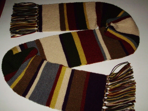 Season 12  & 12.5 'Mini' Doctor Who 7 Ft 100% Acrylic Replica Scarf Fourth Doctor Tom Baker Whovians Cosplay Ashlee's Knits