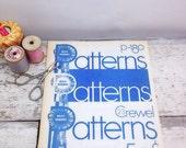 ON SALE Vintage Book-Blue Ribbon Crochet Pattern p180