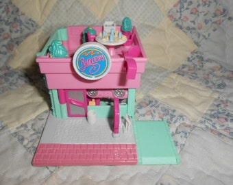 1994 Polly Pocket Drive Thur Burger Stand-Complete