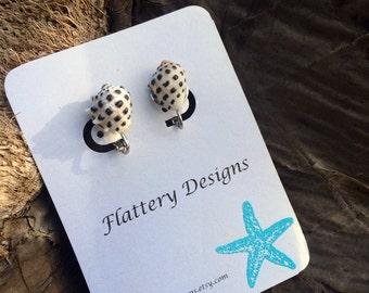 Drupe Shell Clip On Earrings