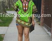Unisex Dashiki Light GrEen African Tunic - Kings and Queens