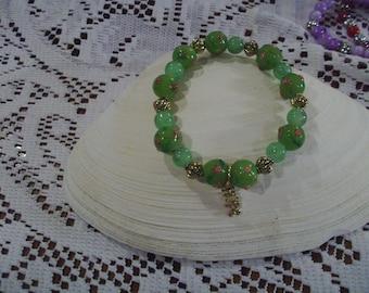 Green Flower Bracelet - Free Shipping