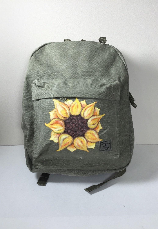 Sunflower Backpack Canvas Bag Everest Laptop Backpack Olive