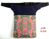SALE: Fanny pack bloom and butterfly, hip pouch mosaic, Hip Bag Waist Bag, bum bag, travel pouch, belt bag.