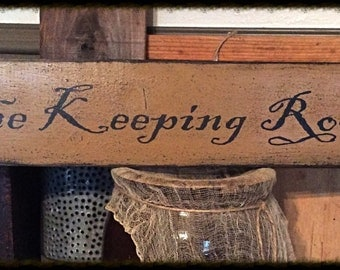 Hand Stenciled primitive sign