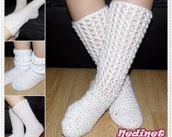 Crochet Pattern, Crochet Lacy Stockings pattern, Crochet Lacy Socks Pattern, diy tutorial, crochet boots pattern, pdf pattern