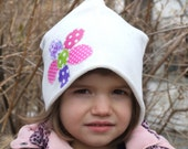Girl cotton slouchy beanie/ toddler hat/ women slouchy beanie/ chose size patchwork hat/ baby white hat/ custom hat