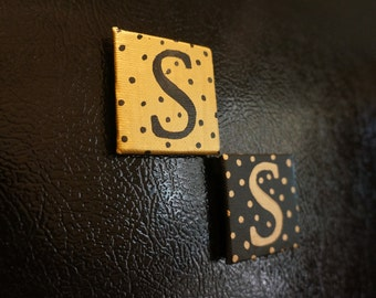 Personalized Hand Painted Initial Magnets
