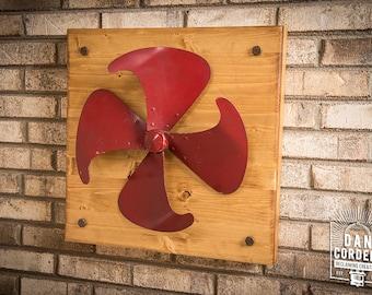 Vintage Fan Blade - Wooden Wall Decor - Large