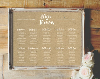 Wedding Seating Chart - Design Options - Rustic Wedding - Wedding Sign - Seating Chart