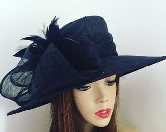 Formal Hat Navy Blue, perfect for the races or a wedding