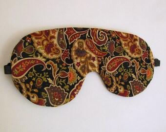Paisley Sleeping Mask, Sleeping Eye Mask, Adjustable Paisley Sleep Mask