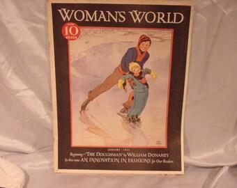 January 1933 Woman's World Magazine Miriam Story Hurford Cover Fashions!