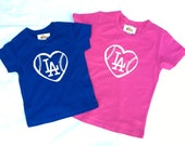 LA Dodgers baseball LOVE baby onesie shirt, baseball fan, Los Angeles DODGERS, baby shower gift, Dodgers baby shirt_Christmas gift