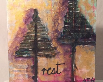 Original Mixed Media Artwork - Rest