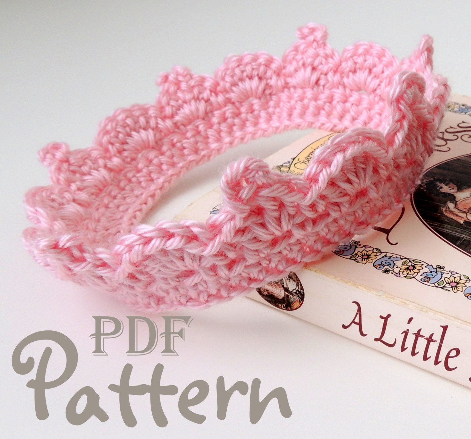 Free Crochet Pattern Baby Crown : PDF CROCHET PATTERN Make It Yourself: Baby Crown Crochet