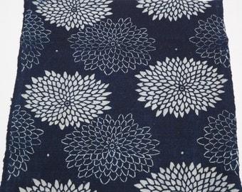 Sale... Nice Antique Japanese Katazome Cotton Textile From Old Futon Cover, Katazome-303