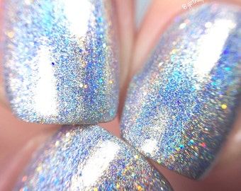 100% Holographic - Chasing Rainbows || Rainbow Glitter Nail Polish || Indie Lacquer || Polish Me Silly