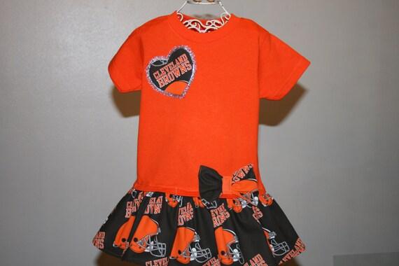 Baby Girls to Teens CLEVELAND BROWNS Football Tshirt Dress