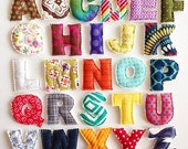 Magnetic/Plush UNISEX Plush Fabric Alphabet Letters for Learning - Made To Order