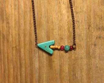 Arrow Necklace (Pink)