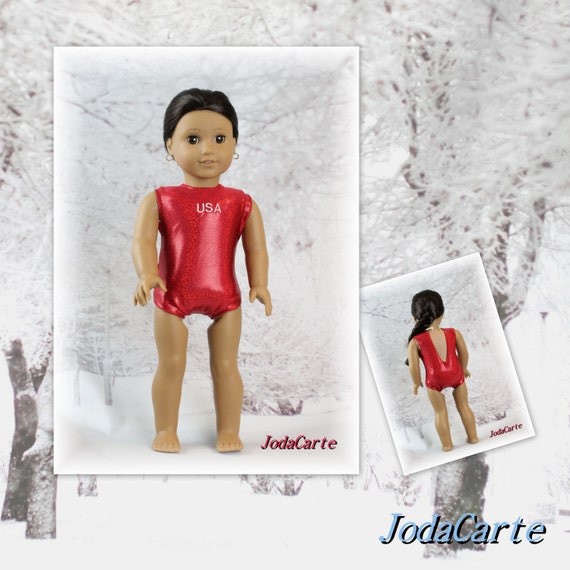 Red USA Leotard/Swim Suit for American Girl Doll