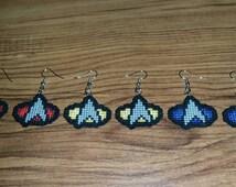 Star Trek Cross Stitch Earrings