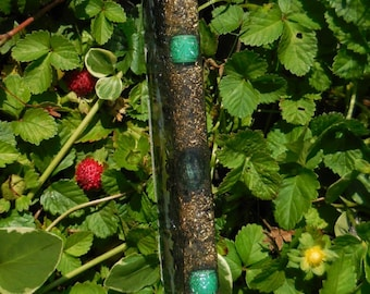 B4 ENERGY ART Serpentine Sparkle Quartz orgone / chi / ki / prana life force energy WAND!