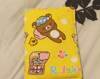Rilakkuma Bear Passport Cover (Yellow)