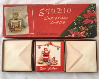 1950's Boxed Vintage Christmas Cards - Wonderful Collection