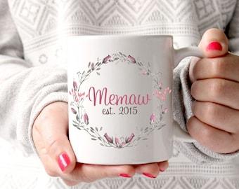 Personalized Nana Grandma Meme Memaw Coffee Mug Grandparent Gift