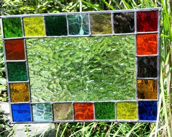 Stained Glass Colorful Panel E95