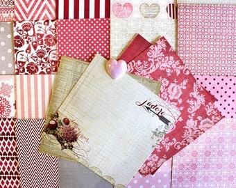 6x6 Lost & Found* Heirloom by My Mind's Eye 24 Sheets*Valentines Inspiration