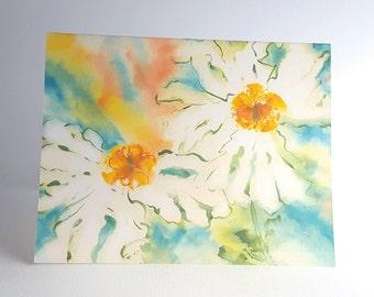 Fine Art Note Card Set Summer Matilija Poppy Flowers