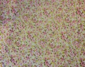 Flower sheet full flat pink green white shabby chic fabric french country bedding
