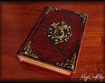 Book of shadows ANCIENT DRAGON - medium or small size available with 280-400 pages - pagan magia wicca spells rituals witch
