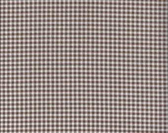 Medium Gingham Check in Brown by Lecien