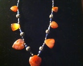 Statement Central Asian lapis lazuli and carnelian necklace