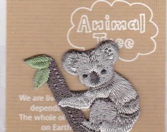 Koala Embroidered Iron-on Applique Iron-on Patch (H459-017) Buy other items together for BETTER price.