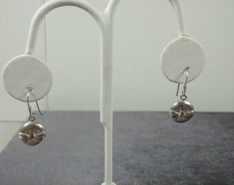 Sterling Silver Moon Face Earrings E52