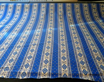 """Cotton fabric from Provence ,France.100% high quality cotton for indoor projects.60"""" width. Esterel in blue"""