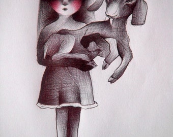Belonging IV, drawing with pen on paper