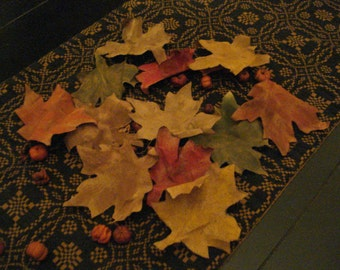 Set of Twelve Autumn Leaves