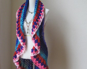 Multicolor Mandala Bohemian Vest Crochet Boho Chic Women Vest Fashion Spring Summer Hippie Vest