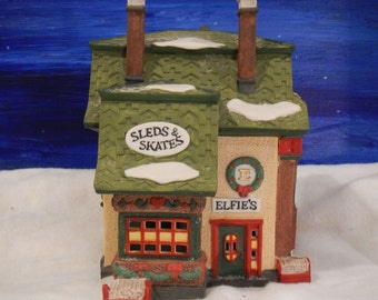 "North Pole Series ""Elfie's Sleds & Skates"" (Dept 56 Heritage Village Collection)"