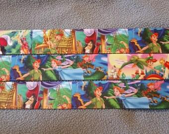 Peter Pan ribbon. Disney Peter Pan. Wendy ribbon. Captain hook ribbon. Lost boys ribbon. Tinkerbell ribbon. Disney inspired ribbon.Wholesale